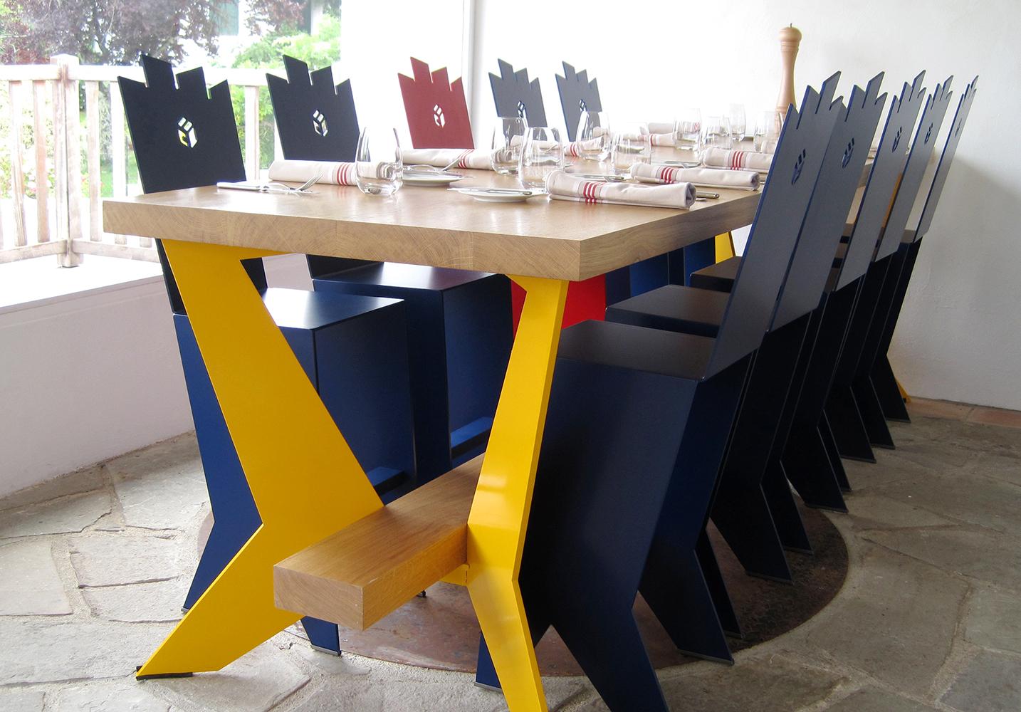 9- GORRI, la table du chef, détail