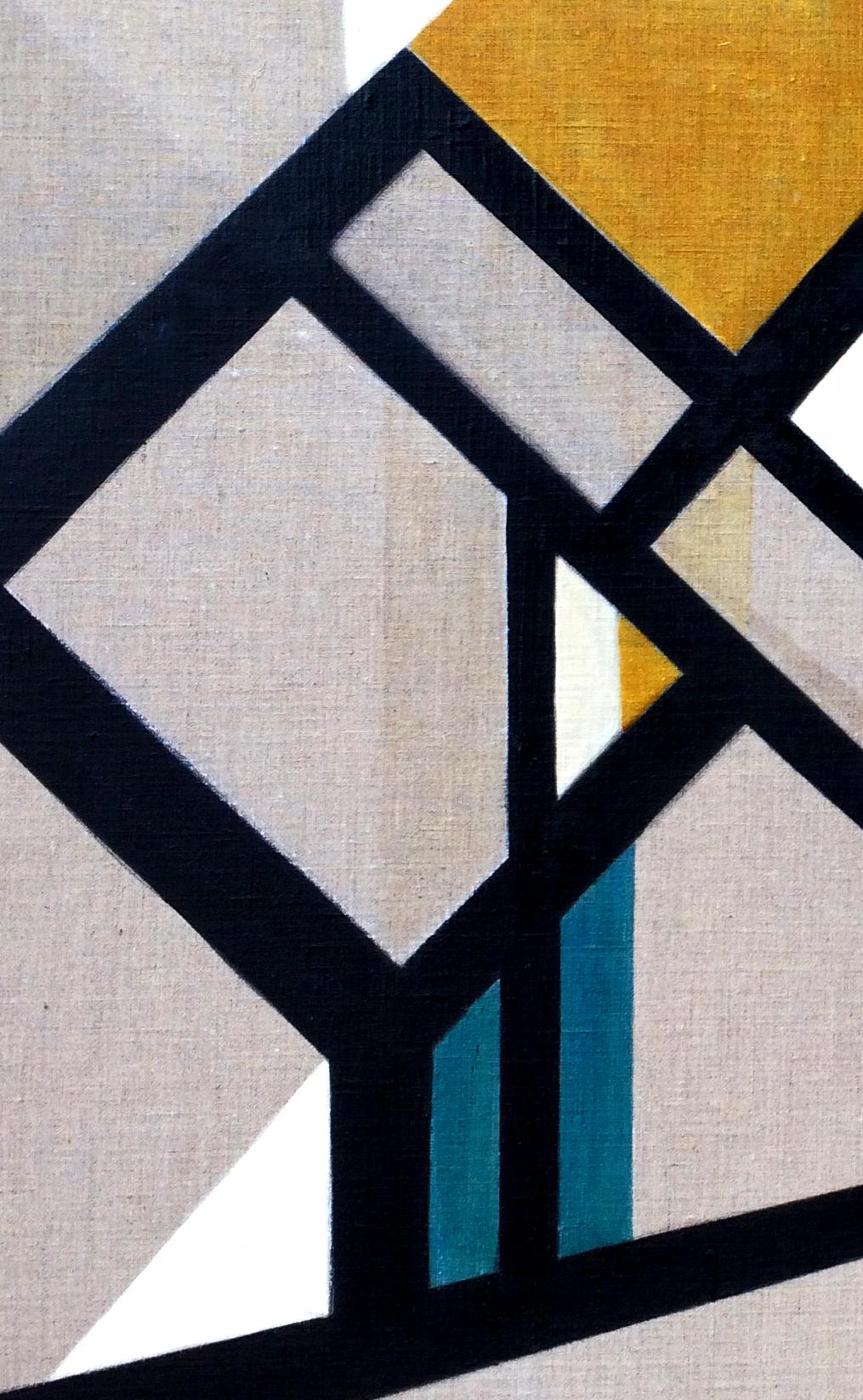 6- Composition animale, détrempe l'oeuf sur toile marouflée sur bois, détail, 250-120 cm